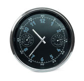 Wall clock with hydrometer and thermometer Stock Photos