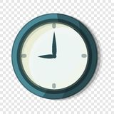 Wall clock icon, cartoon style vector illustration