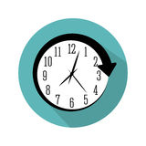 wall clock icon image Stock Photography