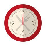 wall clock icon image Stock Images