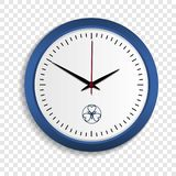 Wall clock icon, realistic style vector illustration