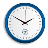 Wall clock icon, realistic style stock illustration
