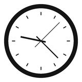 Wall clock icon, simple style Royalty Free Stock Photo
