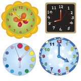 Wall clock. Illustration with different type of wall clock Royalty Free Stock Photo