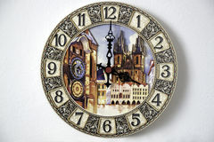 Wall clock with images of landmarks Stock Photography