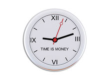Wall clock with the inscription Time is money Royalty Free Stock Image