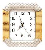 Wall clock isolated Royalty Free Stock Photos