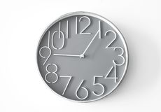 Wall clock on the isolated background royalty free stock image