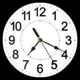 Wall clock isolated on black background. Stock Photos