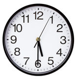 Wall clock isolated on a white background Royalty Free Stock Image