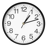 Wall clock isolated on the white background Royalty Free Stock Photo