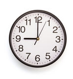 Wall clock isolated on white Royalty Free Stock Photo