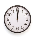 Wall clock isolated on white Stock Photos
