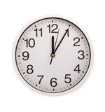 Wall clock isolated on white. Background stock photography