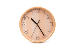 Wall clock isolated. On white background stock photo