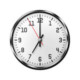 Wall clock isolated on white background. Royalty Free Stock Photography