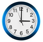 Wall clock isolated on white background. Three oclock.  stock photography