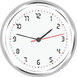 Wall clock isolated on white background vector Royalty Free Stock Photography