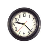 Wall clock isolated on white close up Stock Photo