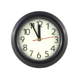 Wall clock isolated on white close up Stock Images