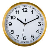 Wall clock isolated on white. Ten past ten. Royalty Free Stock Photos