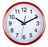 Wall clock isolated on white. Ten past ten. Royalty Free Stock Images