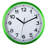 Wall clock isolated on white. Ten past ten. Royalty Free Stock Photo