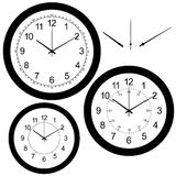 Wall clock isolated on white vector Stock Images