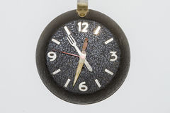 Wall clock. Made of pan Royalty Free Stock Photos