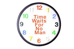 Wall Clock with Message Royalty Free Stock Photos