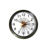 Wall clock with moving hands. On a white background Royalty Free Stock Photography