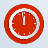 Wall Clock. New Year's Eve Stock Photo