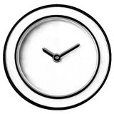 Wall Clock Without Numbers Isolated royalty free stock photography