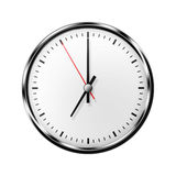 Wall clock without numbers. Stock Photos