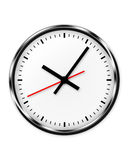 Wall clock without numbers. Royalty Free Stock Images