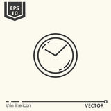 Wall clock. One icon - office supplies, series Royalty Free Stock Photography