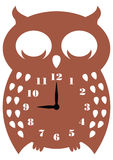 Wall clock owl Stock Photo