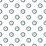Wall clock pattern seamless vector illustration