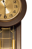 Wall clock with pendulum Royalty Free Stock Photography