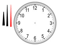 A wall clock with removed arrows Stock Photography