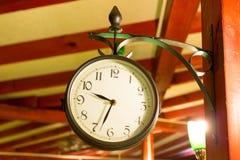 Wall clock at the restaurant Royalty Free Stock Photos