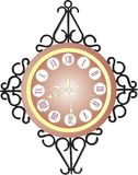Wall clock with the Roman figures Royalty Free Stock Image