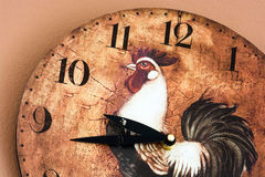Wall clock with a rooster theme Stock Images