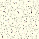Wall clock. Seamless. Stock Photo