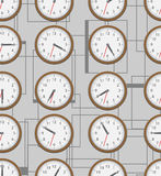 Wall clock seamless Royalty Free Stock Photography