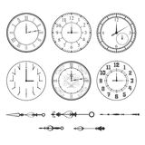 Wall clock set Stock Photo