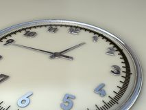 Wall Clock showing midday time range. Wall Clock showing lunchtime range Stock Photography