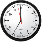 Wall Clock - Showing 7 O`Clock. Business Concept, Wall Clock - Showing 7 O`Clock Royalty Free Stock Photo