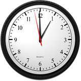 Wall Clock - Showing 1 O`Clock. Business Concept, Wall Clock - Showing 1 O`Clock Royalty Free Stock Photography