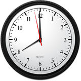 Wall Clock - Showing 8 O`Clock. Business Concept, Wall Clock - Showing 8 O`Clock Stock Photo